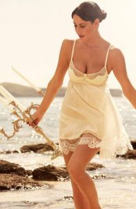 Love Me Babydoll champagner von Shell Belle Couture