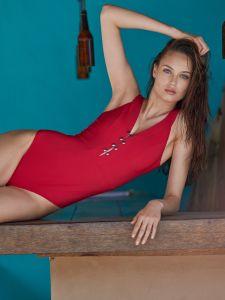 Badeanzug Bonnie rot von Pain de Sucre
