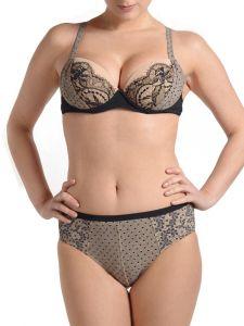 Push Up Bikini Cora schwarz-nude von Je Suis