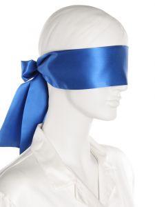 100% Seide Fesselschal / Augenbinde in Royalblau