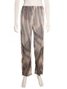 Seide Pyjamahose Boa mit schwarz weißem Schlangenprint