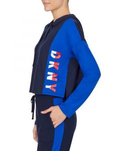 Kurz Hoodie The Warm Up dunkelblau von DKNY Sleepwear