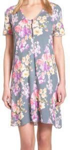 Kurzarm-Nachthemd Amanpuri mit Blumendruck von Gattina