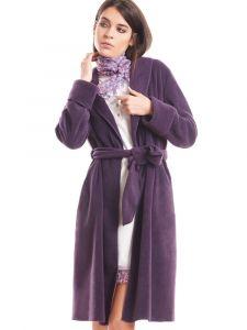 Morgenmantel Kuschel Fleece pflaume violett von Fiori di Chiara - das Nachthemd ist nicht im Lieferumfang enthalten