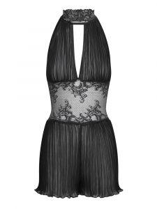 Lingerie Kleid Mozart Plissee schwarz von Cadolle