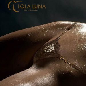 Mikrostring Katia Micro schoko mit gold von Lola Luna