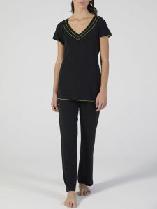 Modal Pyjama schwarz kiwi-grün von Verdiani