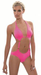 Monokini Candy pink mit Triangel-Oberteil von Rebecca