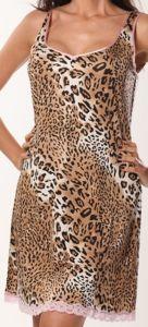 Träger Nachtkleid Krakau mit Leopard Druck von Gattina
