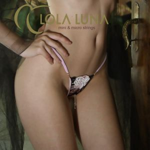 Ouvert String Valia Open schwarz altrosa von Lola Luna