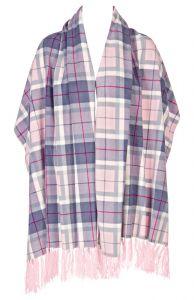 Fleece Poncho warm grau-rosa von Triumph