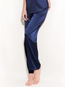 Seide Pyjamahose Seta in dunkelblau von Chiara Fiorini