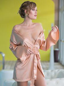 Seide Kimono Intrepido in apricot von Cotton Club
