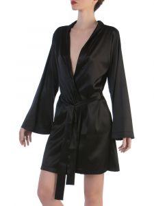 Seide Kimono Intrepido in schwarz von Cotton Club