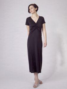 Kurzarm Nachthemd Adelaide Nr. 4 in schwarz von Nightdreams