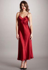Seidennachthemd Dorine in rot von Vivis