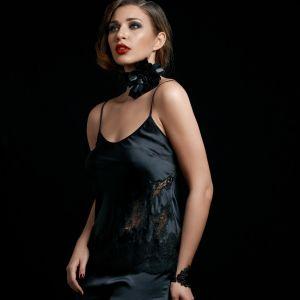 Seidentop Starshine in schwarz von Gattina