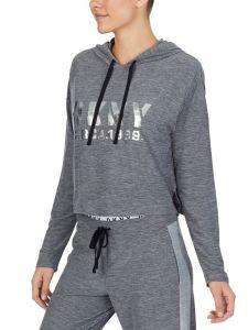 Kurz Hoodie The Warm Up grau meliert von DKNY Sleepwear
