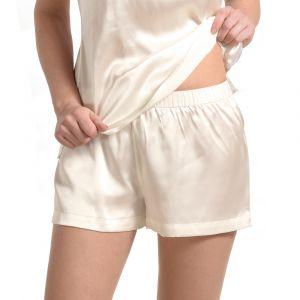 Seide Shorts Dolce von La Perla champagner-weiß