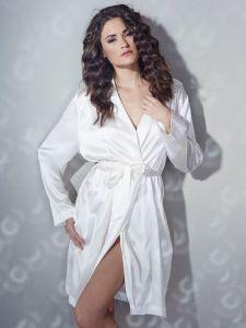 Kimono aus Stretchseide champagner weiß Sloane Street exclusiv von Eva B. Bitzer