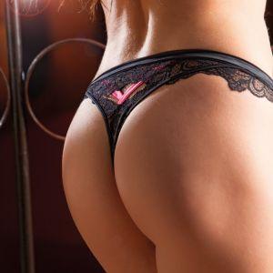 Spitze G-String Corio schwarz-pink von RCrescentini