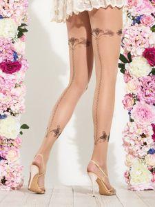 Feinstrumpfhose mit Blumen-Muster Lily von Trasparenze