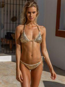 Triangel Bikini Golden Monster Bling Pailletten gold von Eniqua