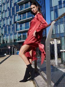 Seidenkleid Violetta in rot von Vivis