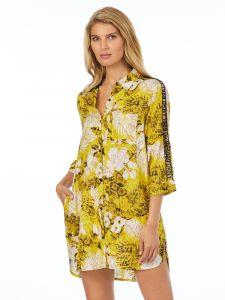 Viscose Sleepshirt gelb beige von DKNY Sleepwear