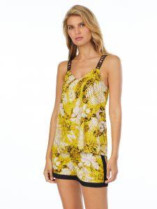 Viscose Sommerpyjama gelb beige von DKNY Sleepwear