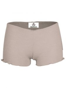 Wolle-Seide Slip Breeze Shorts taupe von Madiva Eco Future