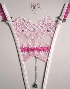 Lola Luna Isadora Open Ouvert Micro String rosa pink