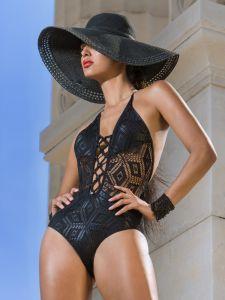 Neckholder Badeanzug Black Diamond von Cotton Club Mare