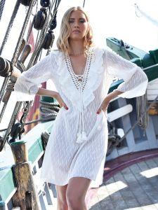 Tunika Sommerkleid Panna creme-weiß von Chiara Fiorini