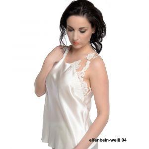 Seidentop Luxury Lace Camisole champagner weiß von Luna di Seta