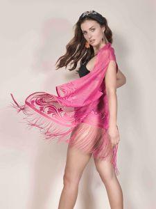 Fransenweste Lovely Dot in pink von Mademoiselle Coco