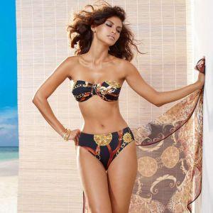 Fürstenberg Bikini mit schwarz-goldenem Druck