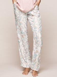 Lange Schlafanzughose aus Viscose mit Blumendruck von Triumph - das Shirt ist nicht im Lieferumfang enthalten
