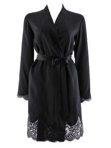 100% Seide Kimono Soie d´Amour schwarz von Aubade