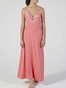 Modal Neglige lang Corallo pink mit Spitze von Verdiani