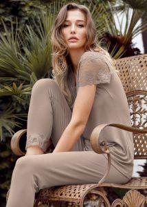 Modal Pyjama Colette taupe von IMEC