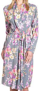 Morgenmantel Amanpuri mit Blumendruck von Gattina