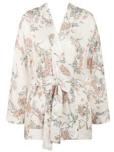 Kurzer Kimono aus Viscose mit Blumendruck von Triumph