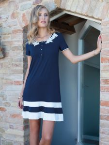 Sommer Nachtkleid Modal in dunkelblau von Chiara Fiorini