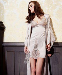 Seiden-Negligé SUPPER CLUB von Shell Belle Couture - Kimono separat im Shop erhältlich