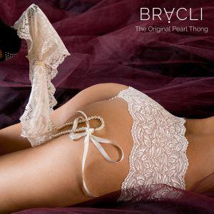 Perlen-Shorty Culotte champagner von Bracli