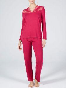 Modal Damen Schlafanzug Lampone No. 1 himbeere rot von Verdiani Donna