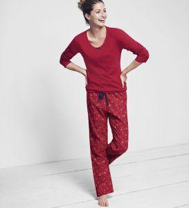 Baumwoll-Flanell Pyjama Christmas Set pascha-rot von Triumph
