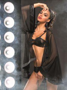 Tüll Kimono Batgirl schwarz von RCrescentini - der BH und der Slip sind nicht im Lieferumfang enthalten