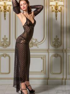 Neglige lang Ysaline schwarz von RC Private Collection Babette